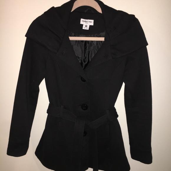 27b83756524 Women s Black Winter Coat w  Hood